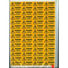 Warning - Isolate Elsewhere  - 56 per Sheet - 49x20mm - SAV SK3004