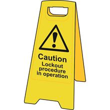 A' Board - Caution Lockout Procedure in operation - Heavy Duty Plastic SK4707