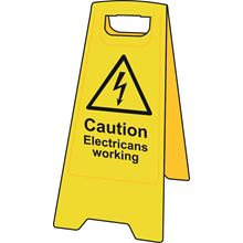 'A' Board - Caution Electricians Working - Heavy Duty Plastic SK4709