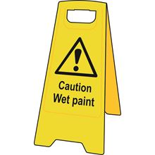 'A' Board - 'Caution Wet Paint' - Heavy Duty Plastic SK4711