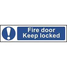 Fire Door Keep Locked - 200x50mm - PVC SK5005