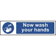 Wash Your Hands Sign - 200x50mm - PVC SK5014