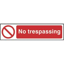 No Trespassing - 200x50mm - PVC SK5055