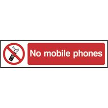 No Mobile Phones - 200x50mm - PVC SK5058
