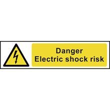 Danger Electric Shock Risk - 200x50mm - PVC SK5100