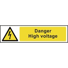 Danger High Voltage - 200x50mm - PVC SK5101