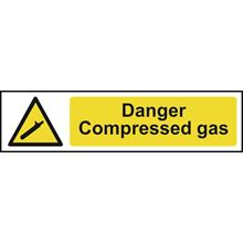 Danger Compressed Gas - 200x50mm -PVC SK5108