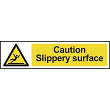 Caution Slippery Surface - 200x50mm - PVC SK5111