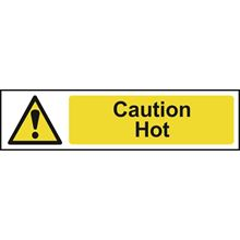 Caution Hot - 200x50mm - PVC SK5115