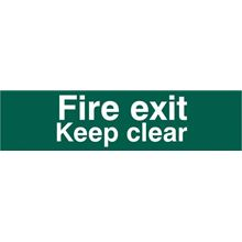 Fire Exit Keep Clear - 200x50mm - PVC SK5206