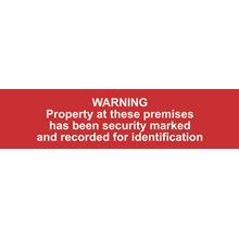 Warning Property At These....- 200x50mm - PVC SK5253