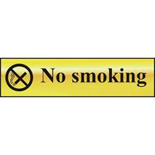 No Smoking  - 200x50mm - Gold Effect - PVC SK6000