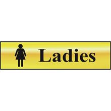 Ladies -  200x50mm - Gold Effect - PVC SK6002