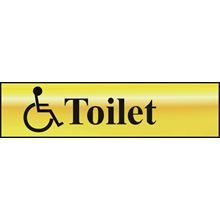 Toilet- Disabled -  200x50mm - Gold Effect - PVC SK6004