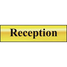 Reception - 200x50mm - Gold Effect - PVC SK6008