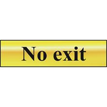 No Exit - 200x50mm - Gold Effect - PVC SK6027