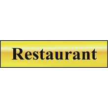 Restaurant - 200x50mm - Gold Effect - PVC SK6036
