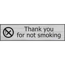 Thank You For Not Smoking  - 200x50mm  - Stainless Steel Effect - PVC SK6301