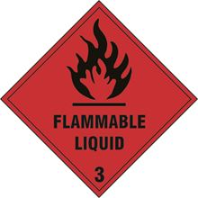Flammable Liquid 3 Label - 300x300mm - SAV SN1231