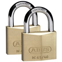 Brass Padlock - 50mm - Pack of 2 Keyed Alike 65TW-50 SP7722