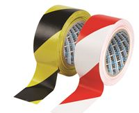 Red/White Self-Adhesive Zebra Warning Tape − 50mm x 33m TA0507