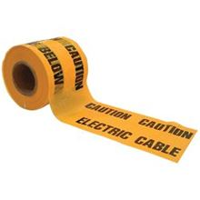 Caution Electrical Cable Below Polythene Tape 150mm X 365mtr TA0510
