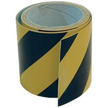 Black/Yellow Self-Adhesive Zebra Reflective Tape - 100mm x 10m TA0546