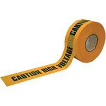 Polythene Barrier Tape - Caution High Voltage TA0547