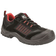 VELTUFF® 'San Fran Zone - Tread' Black/Red Safety Trainer S1P SRC VF0624